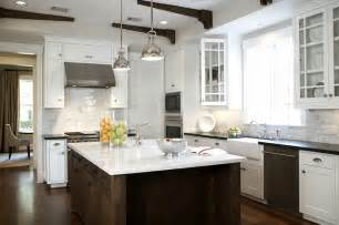 yoke pendants with small shade transitional kitchen ashley goforth design