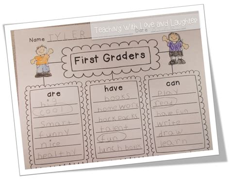 Essay Writing For Grade 1 by Teaching With And Laughter Kindergarten And Grade Writing