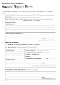hazard report form fill online printable fillable