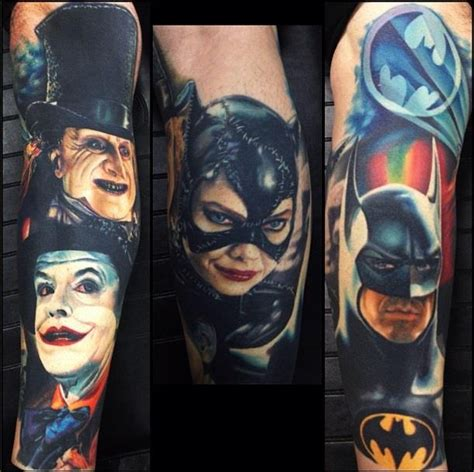 batman penguin tattoo batman and batman returns tattoos tattoos pinterest