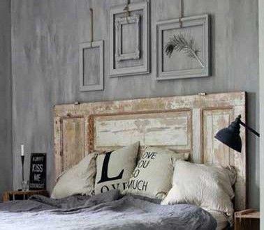 une vieille porte bois pour fabriquer une t 234 te de lit