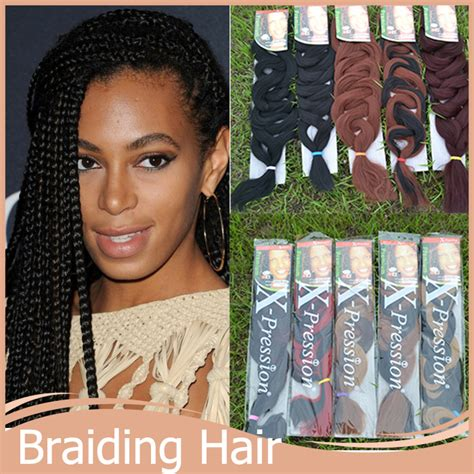 Medium Box Braids With Xpression Hair images