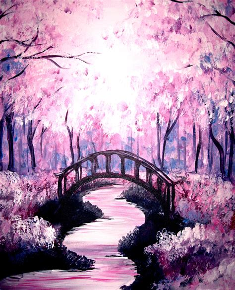 spring painting ideas 22 delicate beautiful acrylic painting ideas to try