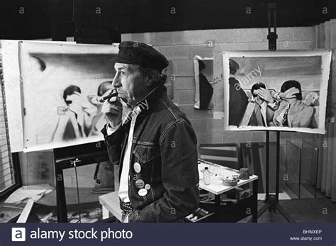 richard hamilton swingeing london richard hamilton pop artist in his studio london uk 1968