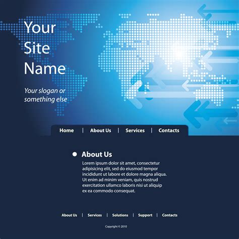 templates for technology website sense of technology website template 05 vector free vector