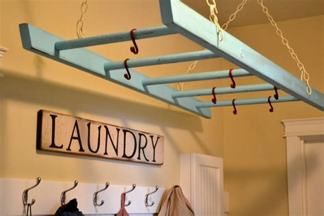 hanging laundry room clothes hanger racks designs using