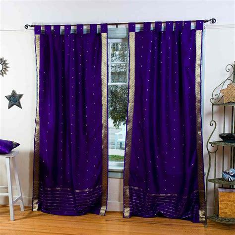 purple sheer curtain purple tab top sheer sari curtain drape panel piece