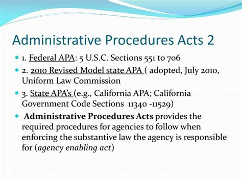 Apa Section 706 by Ppt History And Evolution Of Administrative Agencies