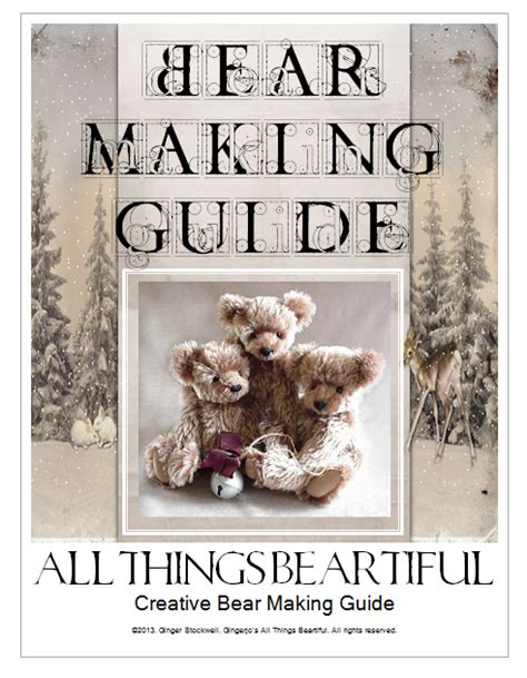 creative pattern making pdf creative bear making simple guide pdf by gingerstockwell