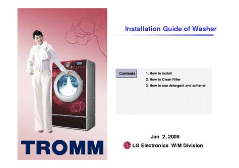 lg tromm washer repair manual free softkeyhire