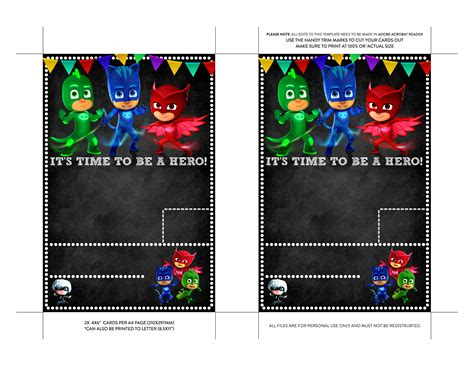 pj masks birthday card template pj masks invitation template songwol 34fbfd403f96