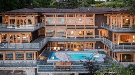 23 8 M West Vancouver Mansion Comes With Yacht Garage Royal Luxury Homes Edmonton