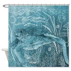 sea turtle shower curtain shelley of the blue sea