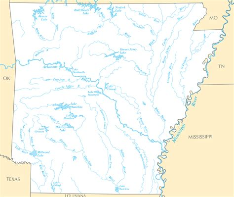 arkansas river map arkansas rivers map arkansas map