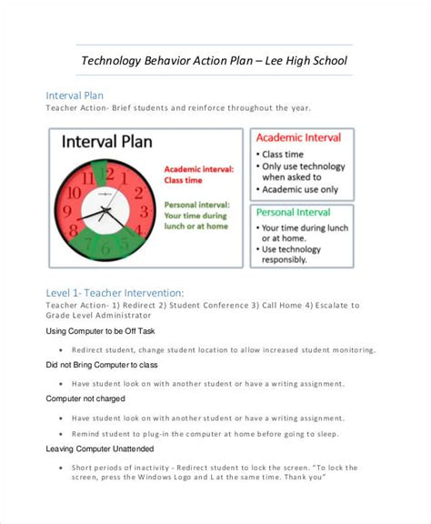 layout behavior 54 exles of action plans