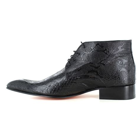 fertini 7275 mens patent leather faux crocodile skin lace