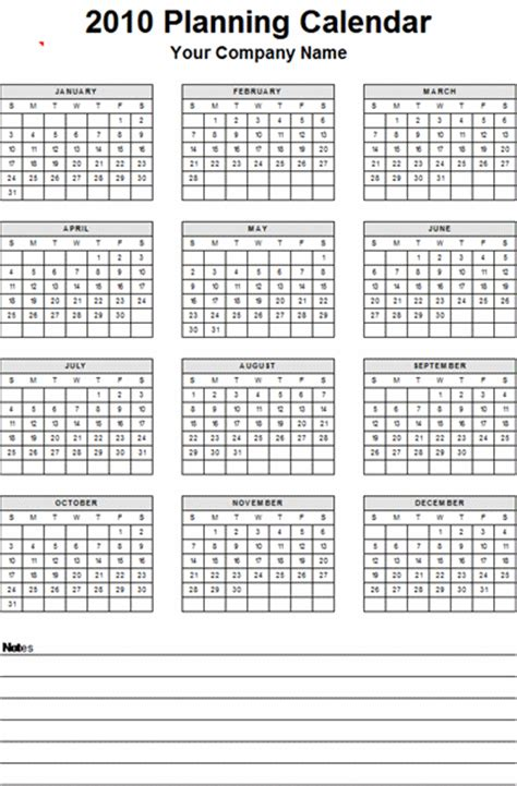 any year calendar template yearly planner any year calendar templates free