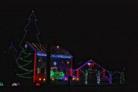 we found some pretty wild christmas light displays around