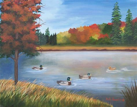 Spruce Knob Lake Wv by Autumn At Spruce Knob Lake Wv Sold Painting By Ruth Housley