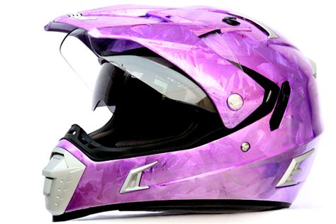 purple motocross helmet masei gdr pink chrome 311 atv motocross motorcycle