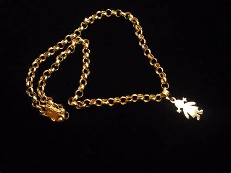cadenas de oro para mujer baratas cadena mas dije para dama en oro 18k 25gr u s 1 500 00