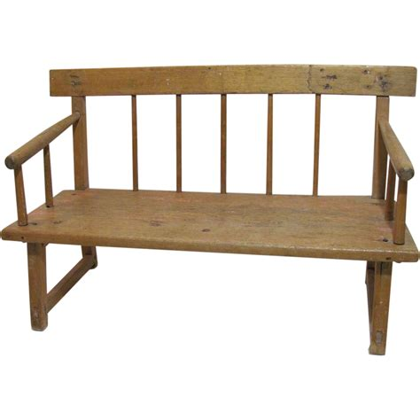 antique pine bench antique pine doll s bench french canadian mid 19th century from cameleon on ruby lane