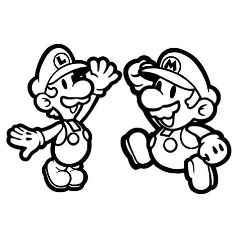 paper luigi coloring pages www imgkid com the image