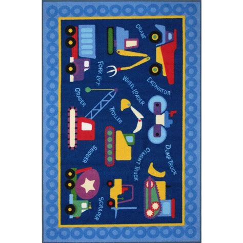 construction rug la rug olive construction multi colored 39 in x 58 in area rug olk 026 3958 the