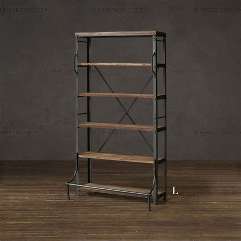 wrought iron shelving american country retro wood wrought iron shelf bookcase display racks do the