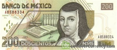 mexican pesos banknote series  exchange