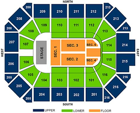 allstate arena seating chart allstate arena rosemont illinois