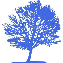 royal blue tree  icon  royal blue tree icons