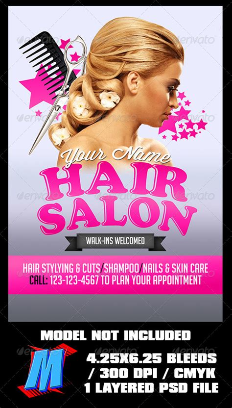 free salon flyer templates hair salon flyer template by megakidgfx graphicriver
