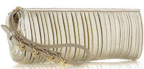 Miu Mius Leather Plisse Clutch In Gold miu miu leather plisse clutch fab or drab purseblog