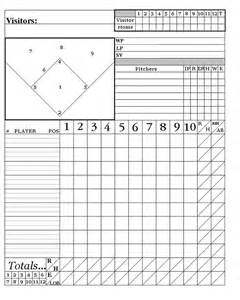 printable baseball score sheets here is my system