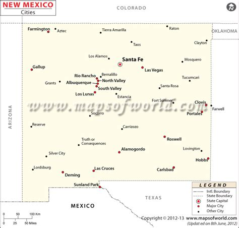 new mexico map with cities cities in new mexico map new mexico cities