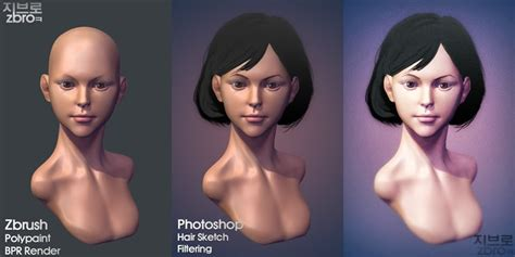 daily sculpt wip zbrush polypaint bpr render