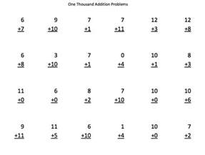 1000 addition subtraction multiplication and division