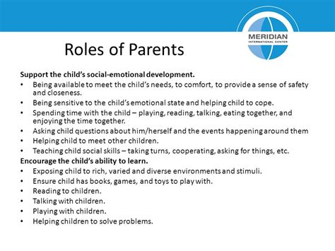 the role of parents supporting your learner going to parent education preschool based learning package ppt
