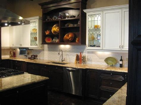 white lower cabinets dark upper cabinets what color kitchen spruce up thenest