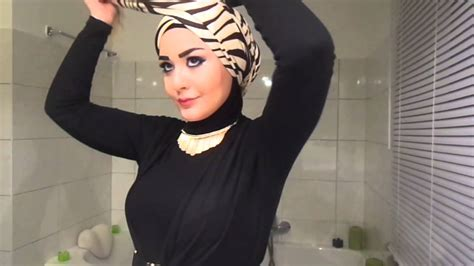 tutorial hijab turban you tube turban hijab tutorial style 2 youtube