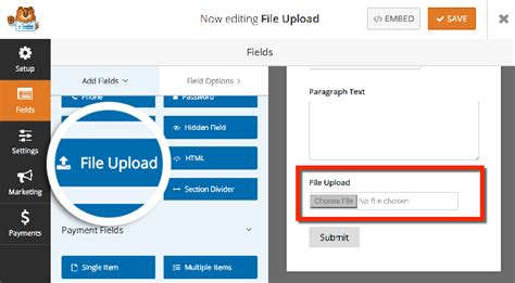 wordpress tutorial upload image how to create a file upload form in wordpress