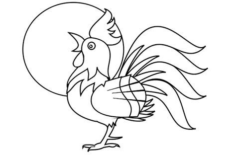 imagenes de gallos faciles para dibujar dibujo de un gallo edudiver com