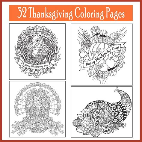 thanksgiving coloring pages for adults thanksgiving coloring pages printables 4