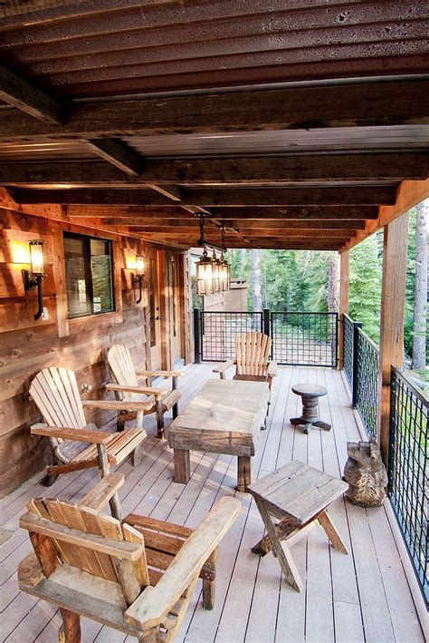 Mountain Home Interiors 25 awesome rustic decks that offer a tranquil escape