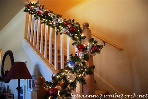 ideas for banisters christmas banister decorations