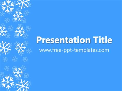 Winter Ppt Template Snowflake Powerpoint Template