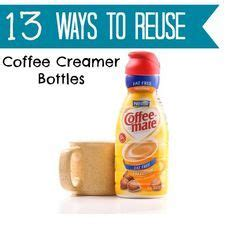 13 useful ways to reuse coffee creamer bottles bottle