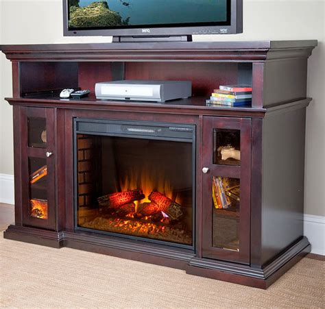 Fireplace And Center by Pasadena Electric Fireplace Entertainment Center In Brown