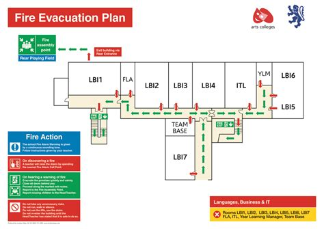 100 fire evacuation floor plan template exit plan